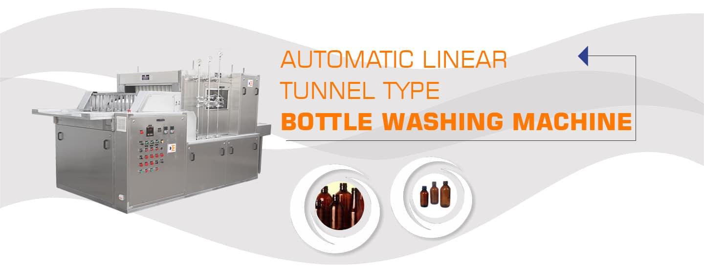 Automatic-Linear-Tunnel-type-Bottle-Washing-Machine