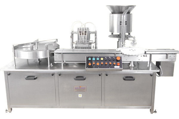 Automatic Liquid Vial Filling & Rubber Stoppering Machine